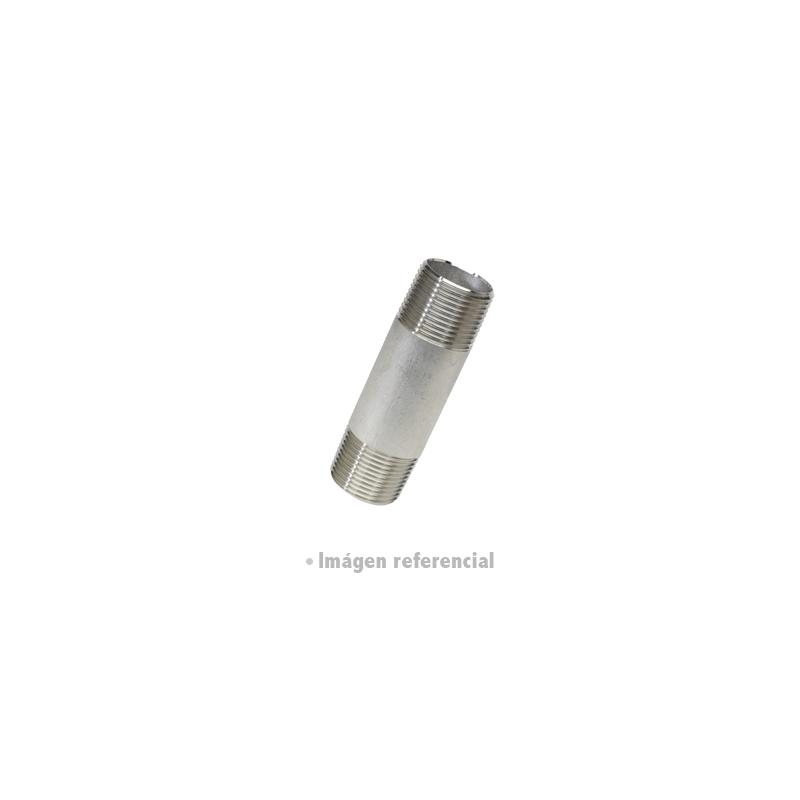 NIPLE ACERO INOXIDABLE 316L SCH80
